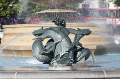 Trafalgar Square water fountain Royalty Free Stock Photography