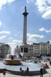 Trafalgar Vierkant Londen Stock Afbeeldingen