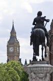 Trafalgarvierkant en Big Ben Royalty-vrije Stock Afbeelding