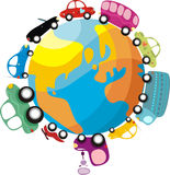 Traffic. Vector illustration of a traffic in the world Stock Image