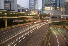 Traffic. It is traffic in Hong kong Royalty Free Stock Photo