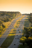 Traffic. Aerial view of Cars/Traffic on a highway in Austin Texas USA Stock Photos
