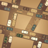 Traffic. Editable  illustration of busy car traffic Stock Photo