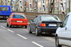Traffic. On bridge in Grudziadz Stock Photography