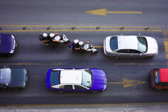 Traffic. Busy morning traffic - taken from above Stock Photography