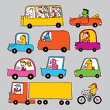 Traffic. Illustration of a city traffic Stock Images