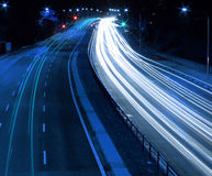 Traffic. Night Traffic Scene royalty free stock image