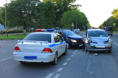 Traffic accident Stock Photo