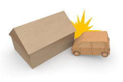 Traffic accident resulting in property damage Stock Images