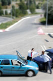 Traffic accident and to driver Stock Photography