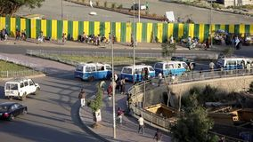 Traffic in Addis Ababa, Ethiopia stock footage