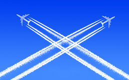 Traffic in the air. Heavy traffic in the air Royalty Free Stock Images