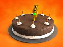 Traffic Alert Cake Royalty Free Stock Photo