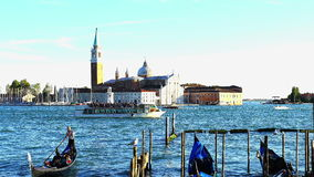 Traffic along the grand canals of Venice stock video footage