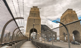 Traffic along Sydney Harbour Bridge Royalty Free Stock Photography