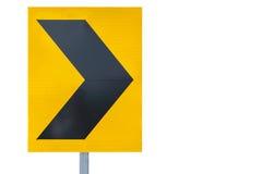 Traffic arrow sign stock photography