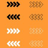 Traffic arrows black and white  icon . Royalty Free Stock Image