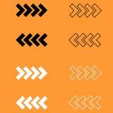 Traffic arrows black and white  icon . Traffic arrows black and white set icon Royalty Free Stock Image
