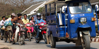 Traffic in Asia. royalty free stock photography