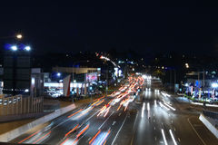 Free Traffic At Night Royalty Free Stock Photography - 5595257