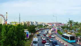 Traffic at Ataturk boulevard stock footage