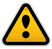 Traffic attention sign Royalty Free Stock Photos