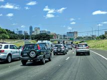 Traffic in Austin Texas Royalty Free Stock Photos