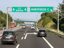 Traffic Autostrada, Italy stock image