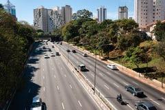 Traffic avenue city sao paulo stock photo