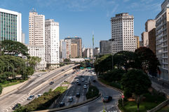 Traffic avenue city sao paulo Stock Images