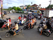 Traffic in Bali Royalty Free Stock Images