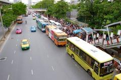 Traffic at BTS Chatuchak station Stock Image