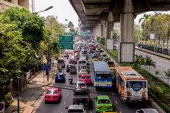 Traffic of Bangkok stock photography