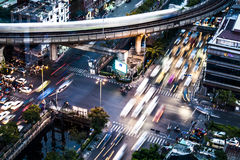 Traffic in Bangkok Stock Photography