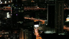 Traffic in bangkok by night stock video footage