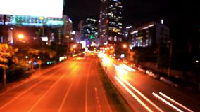 Traffic in Bangkok, Thailand. Advertising board. Traffic on the road. Timelapse speed up. Thailand stock video