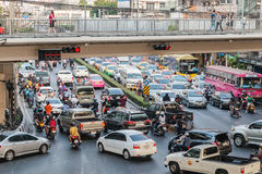 Traffic in Bangkok Stock Images