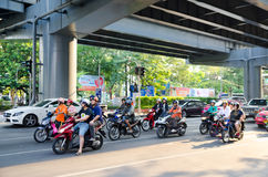 Traffic in Bangkok Royalty Free Stock Photos