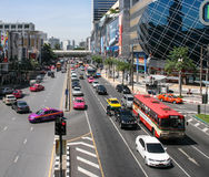 The traffic in bangkok,thailand Stock Image