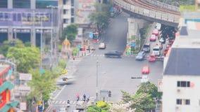 Traffic in bangkok ,Thailand stock video footage