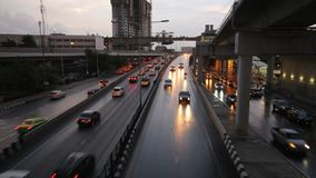 Traffic in Bangkok Thailand time lapse Stock Photo