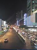 Traffic in bangkok thailand. Tonight traffic in thailand,relax Stock Photo