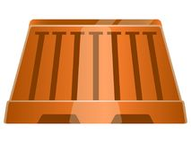 Isolated traffic barricade. Traffic barricade on a white background, Vector illustration Royalty Free Stock Images