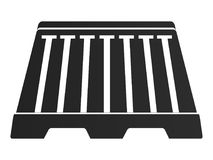 Isolated traffic barricade. Traffic barricade on a white background, Vector illustration Stock Image