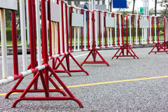 Traffic barrier Fence. Traffic red barrier Fence safety stock image