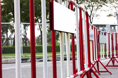 Traffic barrier Fence. The Traffic barrier Fence safety royalty free stock photo