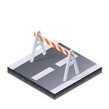 Traffic Barrier Illustration Stock Photo