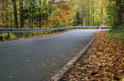Traffic barrier. Indian summer. Stock Photography