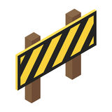 Traffic barrier isometric 3d icon. Isolated on white background Stock Photography