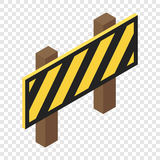 Traffic barrier isometric 3d icon. On transparent background Stock Photography